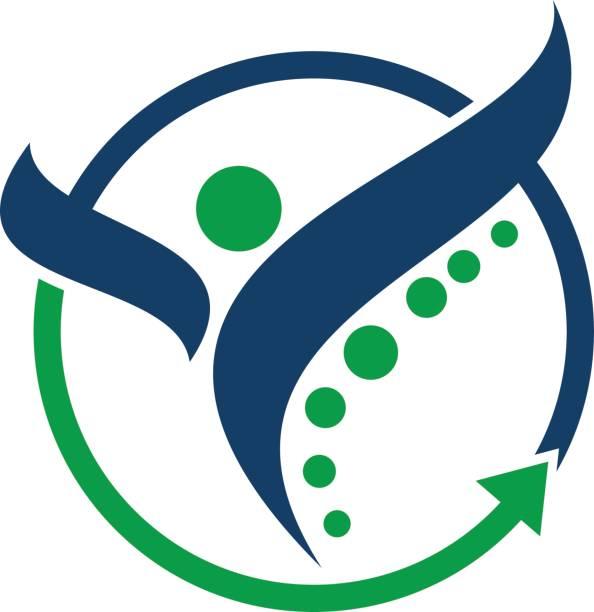 gesunden ganzheitlichen zentrum - chiropraktiker stock-grafiken, -clipart, -cartoons und -symbole