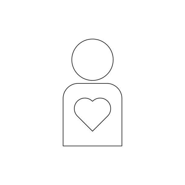 illustrazioni stock, clip art, cartoni animati e icone di tendenza di healthy human outline icon. signs and symbols can be used for web, logo, mobile app, ui, ux - runner rehab gym