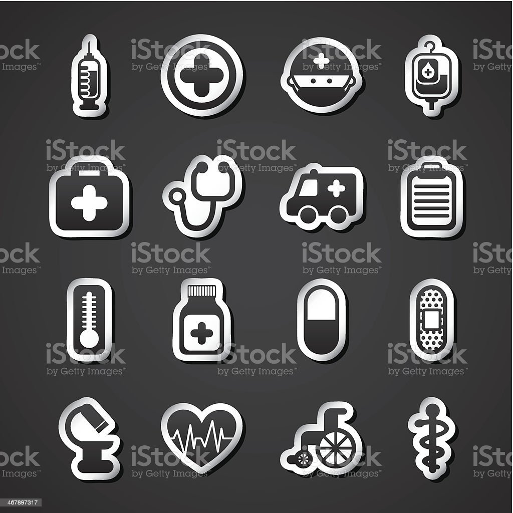 Healthy Icons royalty-free stock vector art