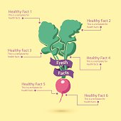 A vegetable infograph for healthy food.