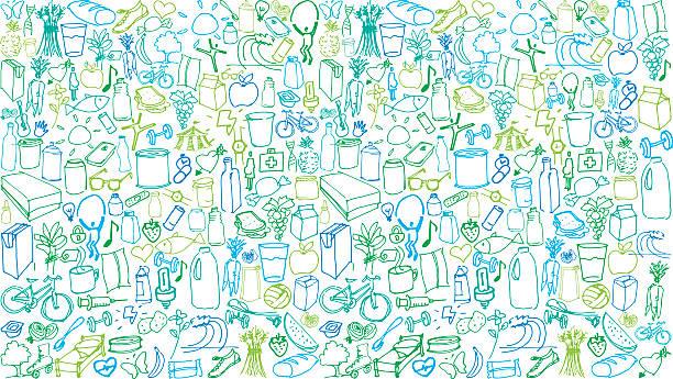 gesundes leben farbe muster - herzkissen stock-grafiken, -clipart, -cartoons und -symbole