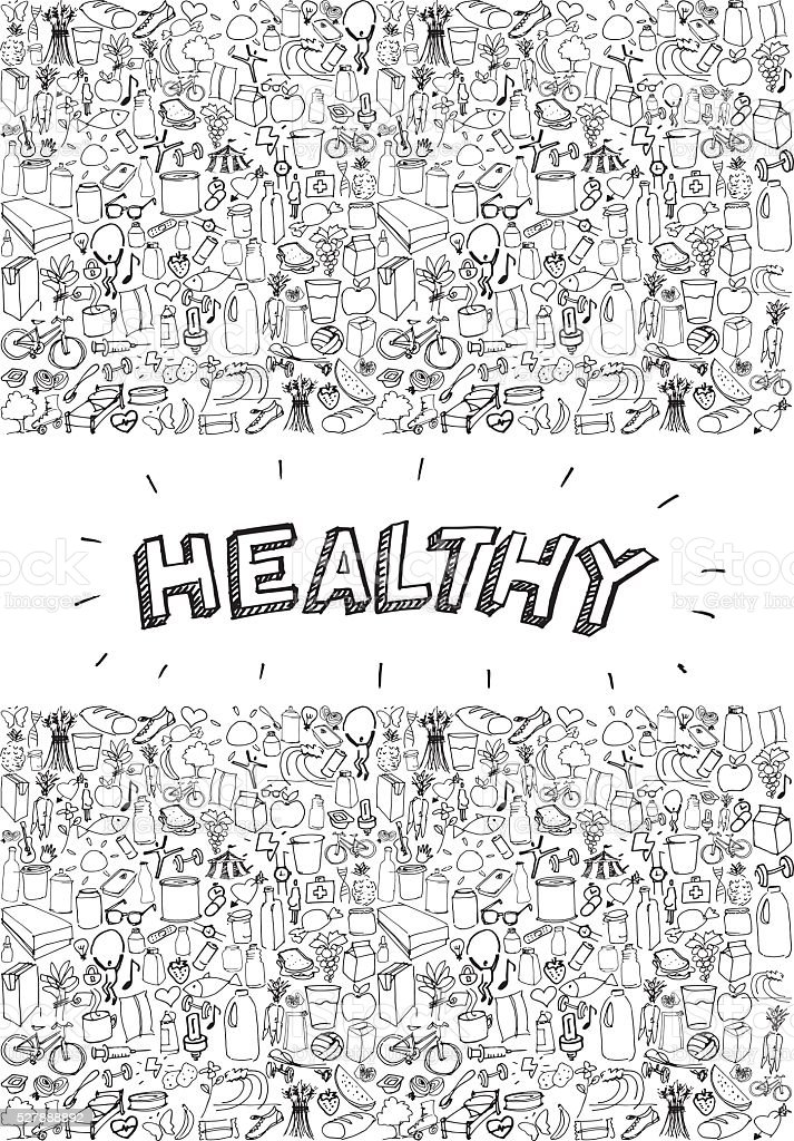 Healthy life poster vector art illustration