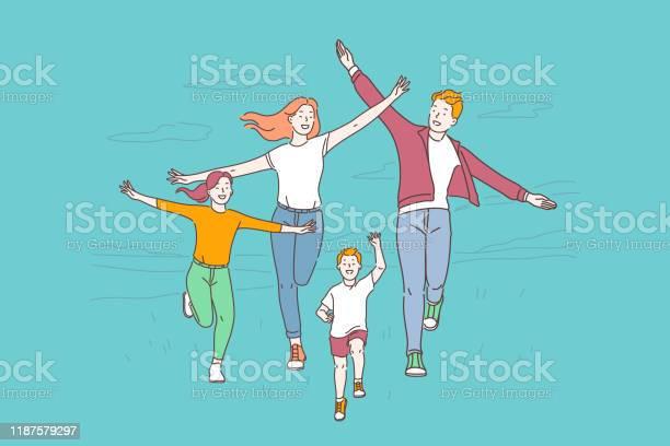 Healthy Lifestyle Active Recreation Concept - Stockowe grafiki wektorowe i więcej obrazów Aktywny tryb życia