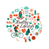 istock Healthy lifestyle and self-care concept 1208604892