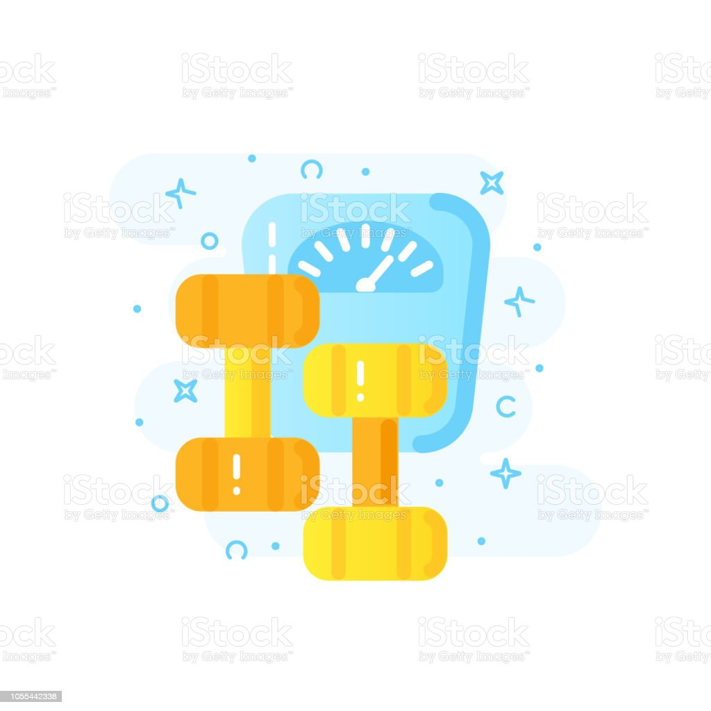 Healthy Lifestyle And Weightloss Banner Concept Vector Stock Vector