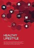 Healthy Lifestyle. Brochure Template Layout, Cover Design