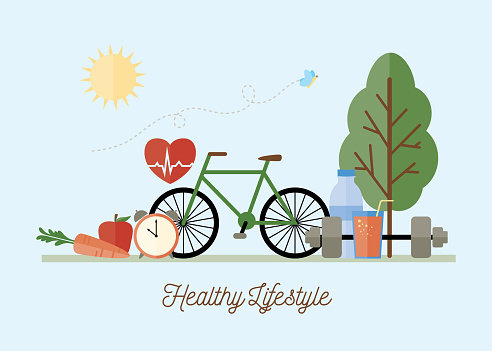 Healthy Lifestyle Concept Illustration clipart