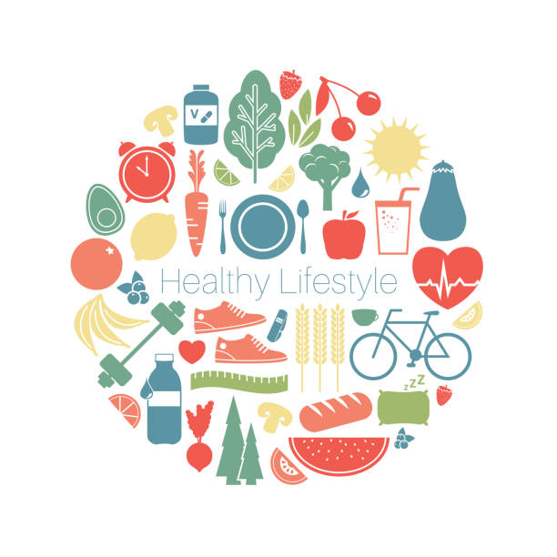 gesunder lifestyle-konzept - herzkissen stock-grafiken, -clipart, -cartoons und -symbole