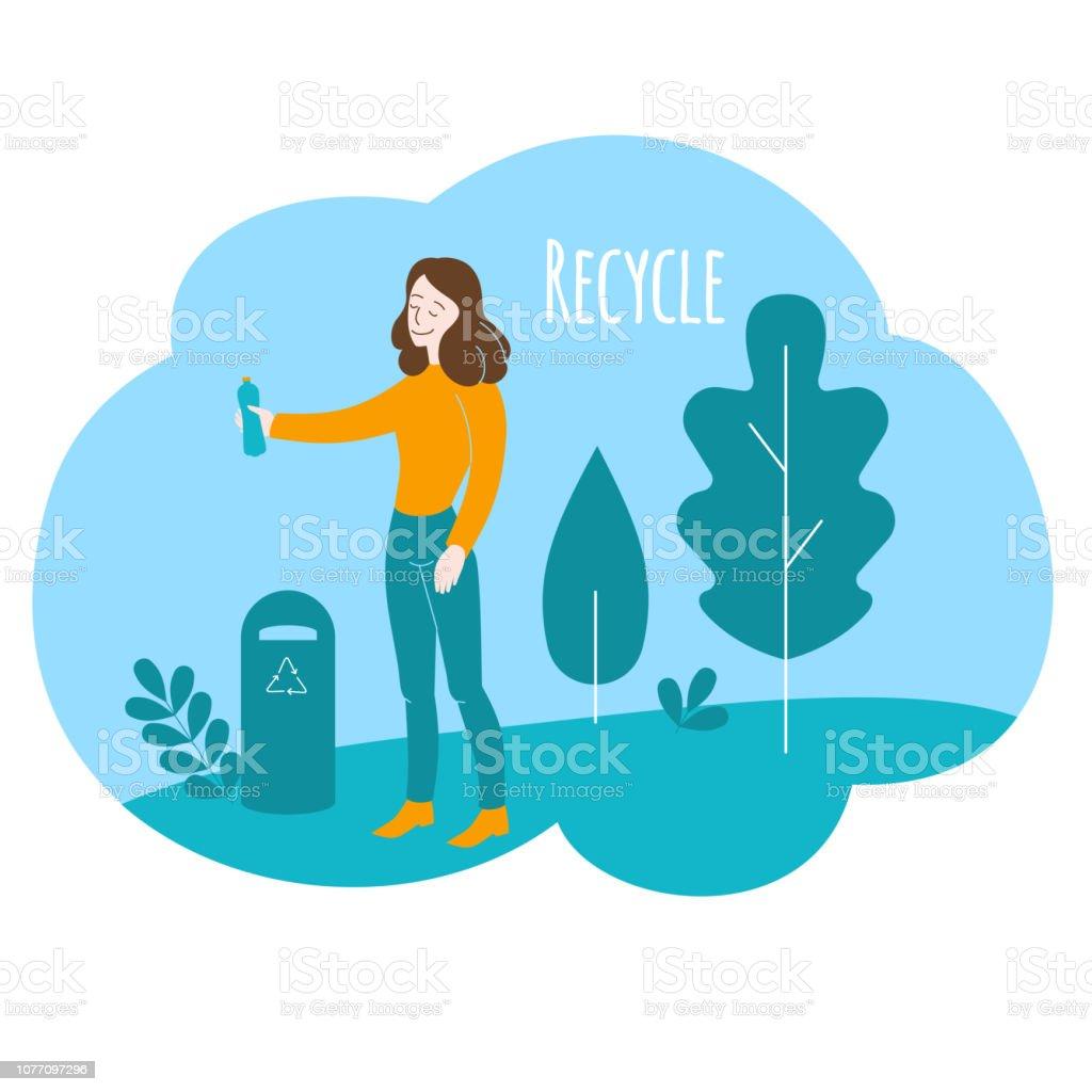 Ilustración De Estilo De Vida Saludable Cuidado Del Medio Ambiente