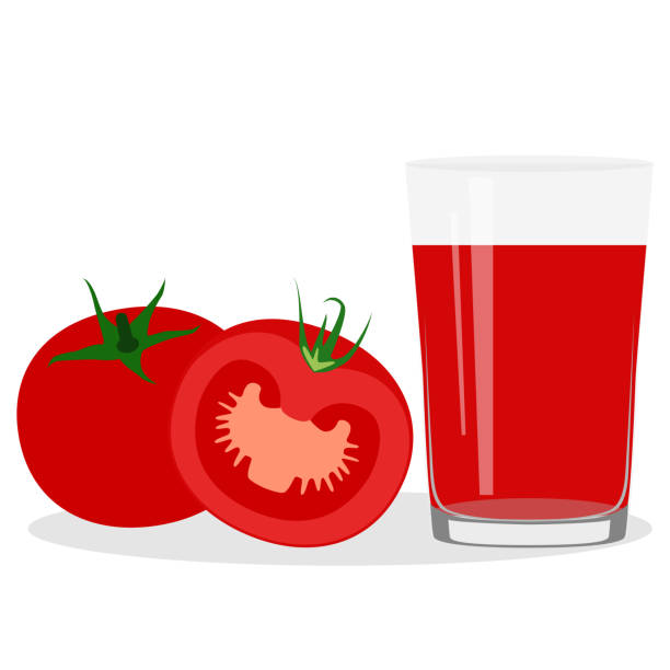 Healthy Lifestyle. Freshly squeezed juice in a glass. Tomato juice. Healthy Lifestyle. Freshly squeezed juice in a glass. Tomato juice. Health. Vector illustration vegetable juice stock illustrations