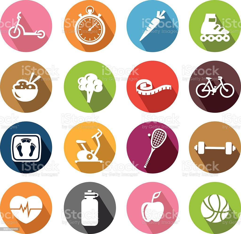Healthy Lifestyle Icons - Flatdesign vector art illustration