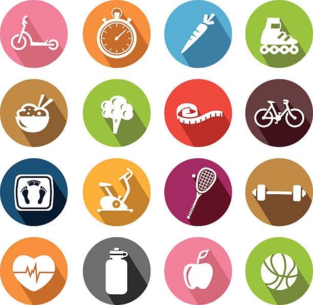 ilustrações de stock, clip art, desenhos animados e ícones de ícones de estilo de vida saudável-flatdesign - fail cooking