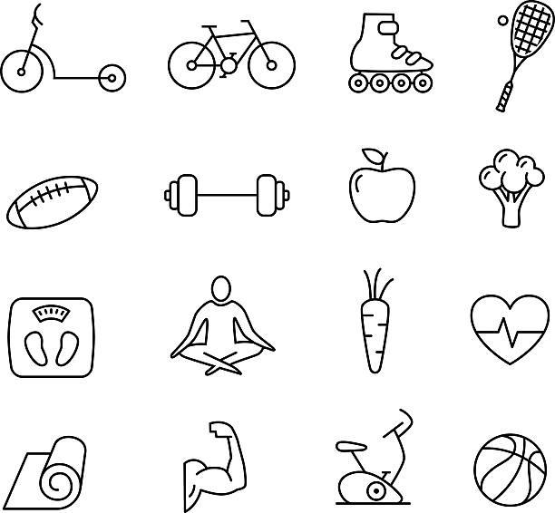 ilustrações de stock, clip art, desenhos animados e ícones de ícones de estilo de vida saudável - fail cooking