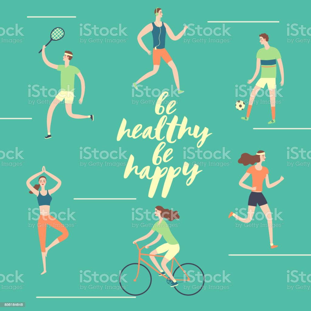 Healthy lifestyle illustration vector art illustration