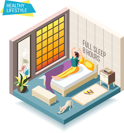 healthy lifestyle isometric composition