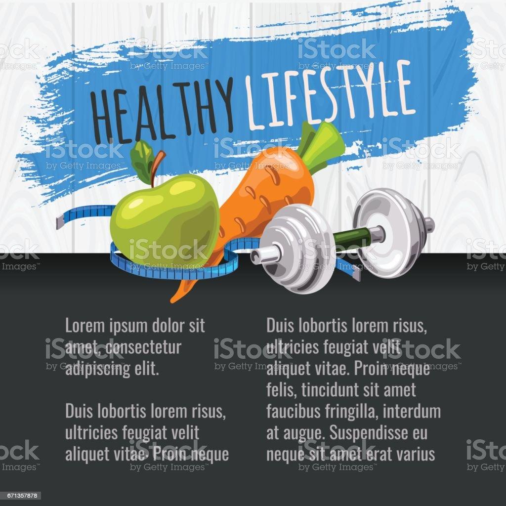 Gesunde Lebensweise Vorlage – Vektorgrafik