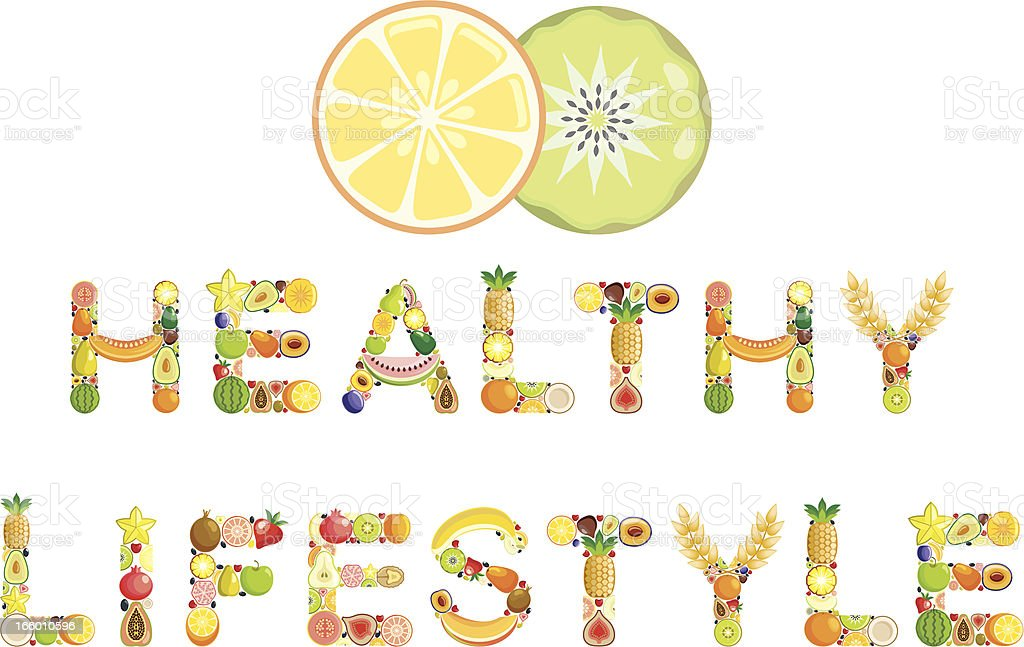 Healthy lifestyle royalty-free stock vector art