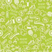Vector illustration of the healthy lifestyle.