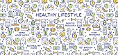 Healthy lifestyle conceptual vector illustration perfect for use in website design, presentations, infographics etc.