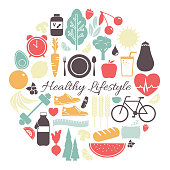 Healthy Lifestyle Vector Illustration