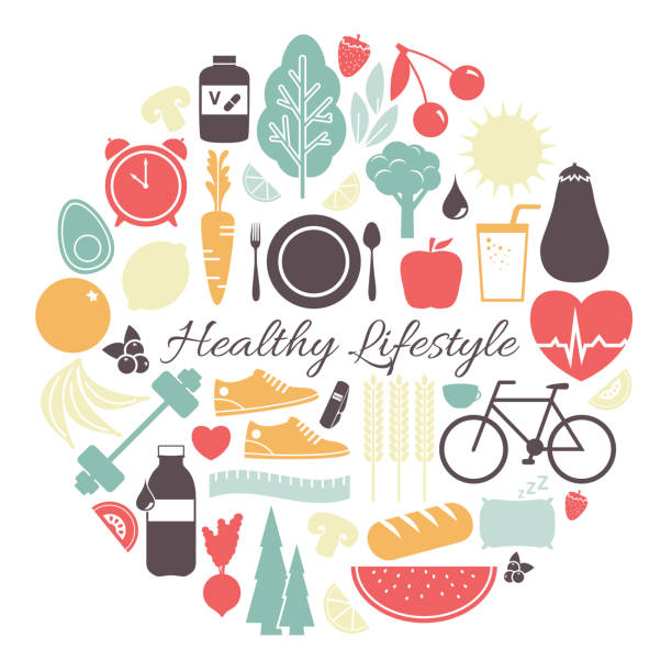 Healthy Lifestyle Vector Illustration vector art illustration
