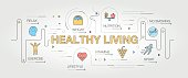 Healthy Living banner and icons