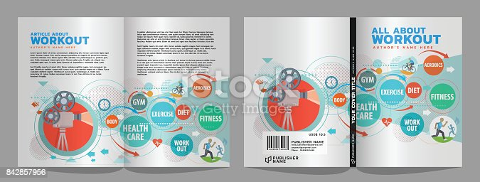 healthy living cover & article design