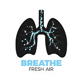 Healthy lungs icon