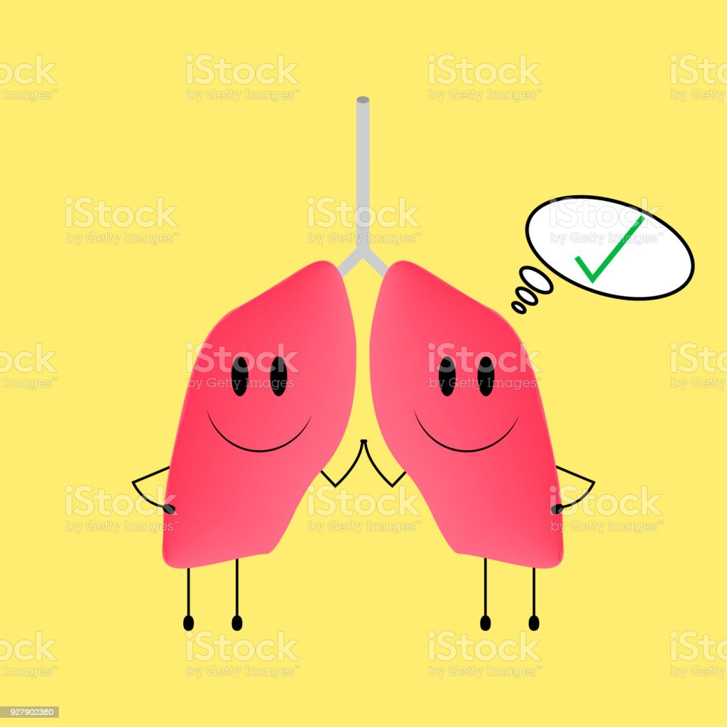 Healthy Lungs Stock Illustration - Download Image Now - iStock