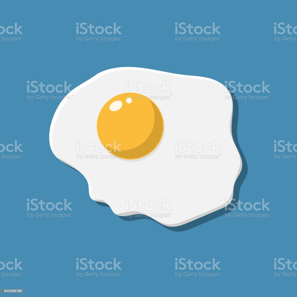Healthy nutritious breakfast. Fried egg. vector art illustration