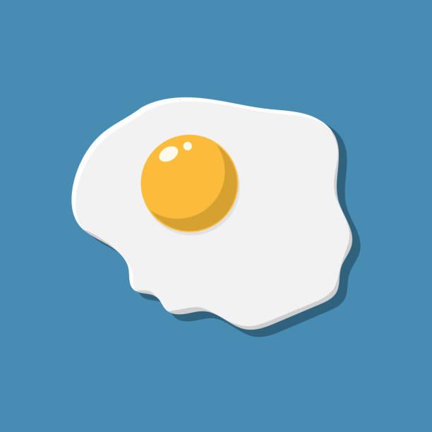 gesundes, nahrhaftes frühstück. spiegelei. - spiegelei stock-grafiken, -clipart, -cartoons und -symbole