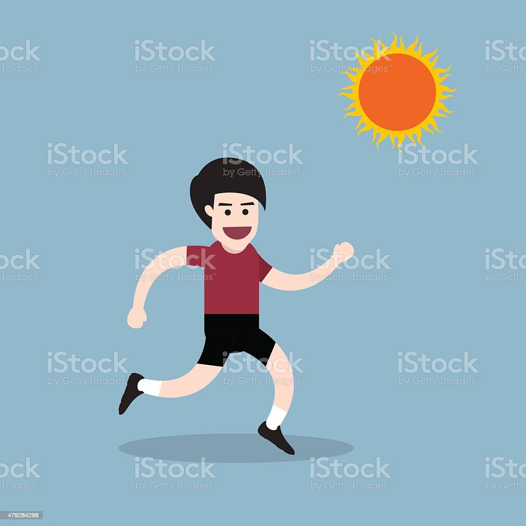 Healthy Running Man Stock Illustration - Download Image Now - iStock