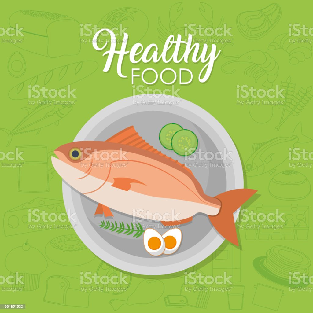 Healthy seafood concept royalty-free healthy seafood concept stock vector art & more images of cartoon