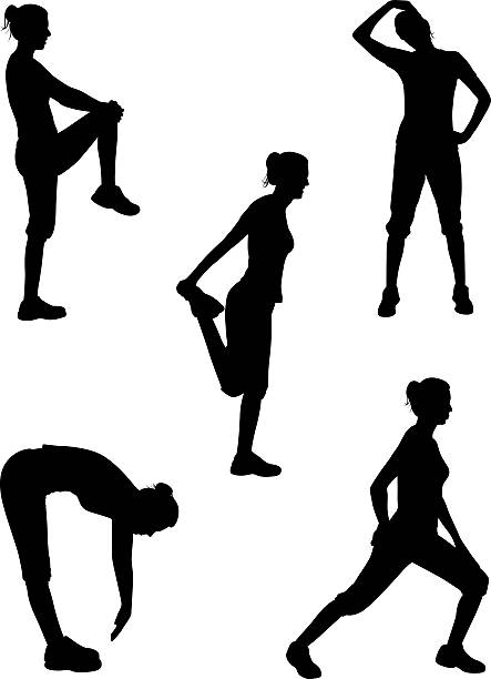 Healthy silhouette series vector art illustration