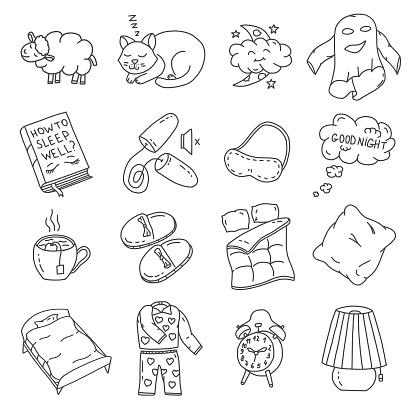 Healthy Sleep Doodles Set