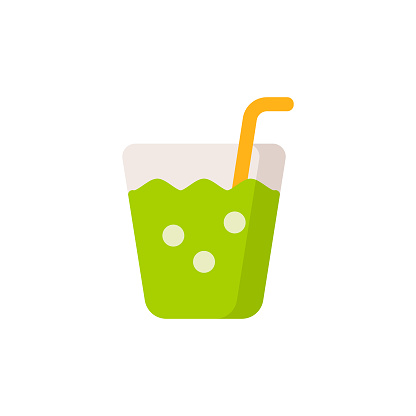 Healthy Smoothie Flat Icon. Pixel Perfect. For Mobile and Web.
