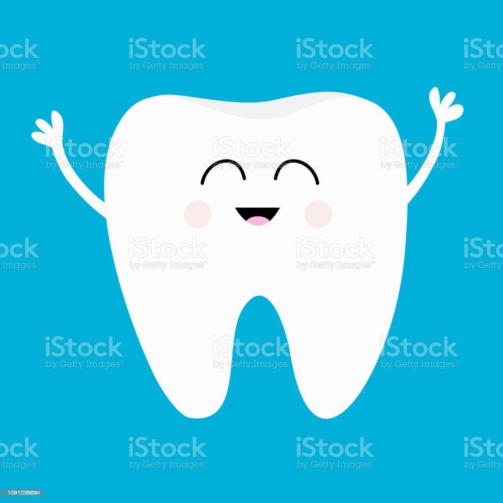 9c4872944 Ícone de dente saudável. Sorriso de cabeça. Bucal higiene dental. Cuidados  com os
