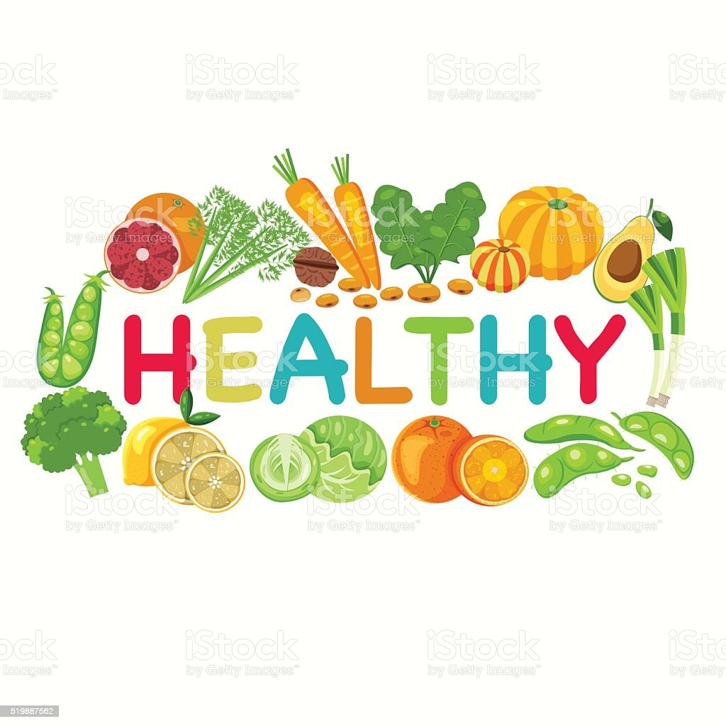 Healthy Vegetables Background vector art illustration