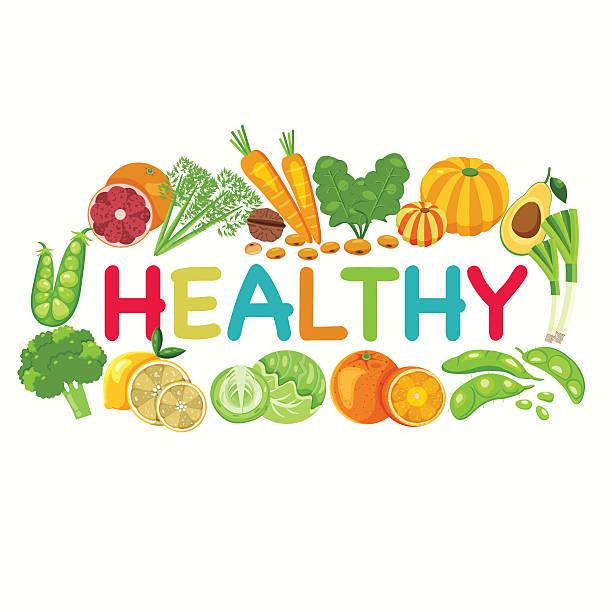 Healthy Vegetables Background vector art illustration