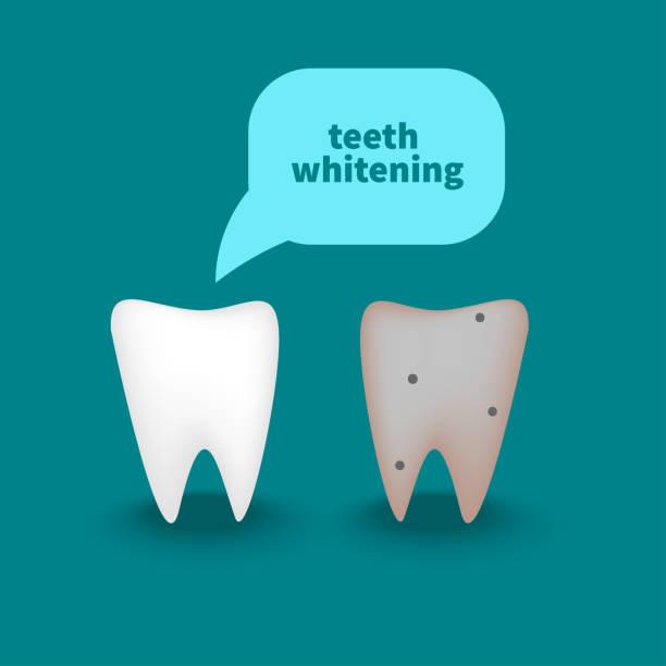 bildbanksillustrationer, clip art samt tecknat material och ikoner med friska vit tand - two dentists talking