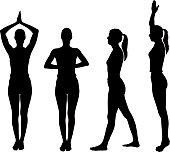 A collection of women silhouettes doing yoga.  Click here to see more [url=/file_search.php?action=file&lightboxID=2635336]healthy illustrations[/url]  You may also like these files: [url=/file_search.php?action=file&lightboxID=872244]Dance Silhouettes and Illustrations[/url] [url=file_closeup.php?id=11573052][img]file_thumbview_approve.php?size=1&id=11573052[/img][/url] [url=file_closeup.php?id=11568232][img]file_thumbview_approve.php?size=1&id=11568232[/img][/url] [url=file_closeup.php?id=11568117][img]file_thumbview_approve.php?size=1&id=11568117[/img][/url] [url=file_closeup.php?id=11566738][img]file_thumbview_approve.php?size=1&id=11566738[/img][/url]