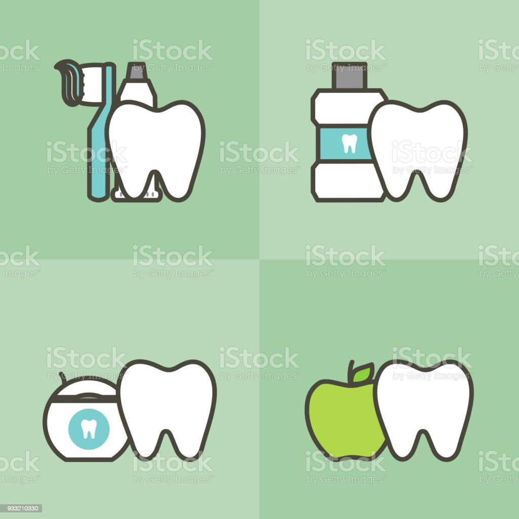 c92ceaa78 Vetor de Healty Dente E Melhor Amigos Escova De Dentes Creme Dental ...