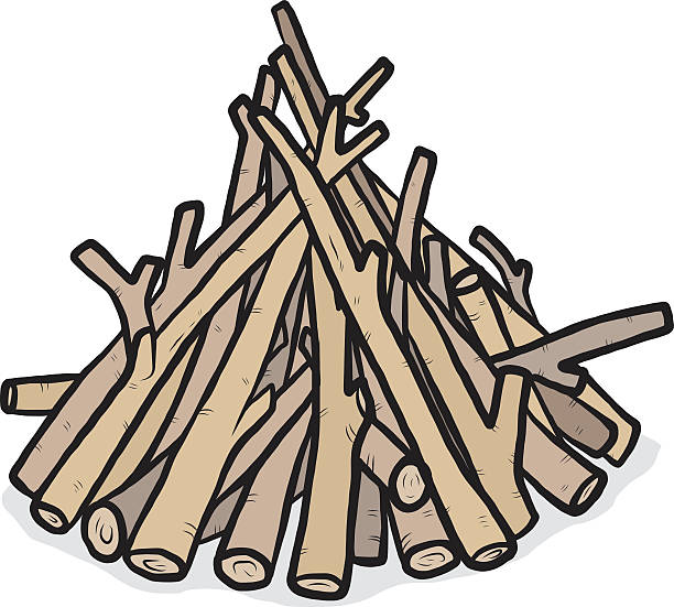 Firewood Clip Art ~ Royalty free firewood pile clip art vector images