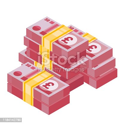 Money illustration of wealth and condition. . Money icon in isometric style.