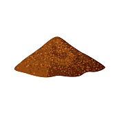 Heap of ground spices on white background