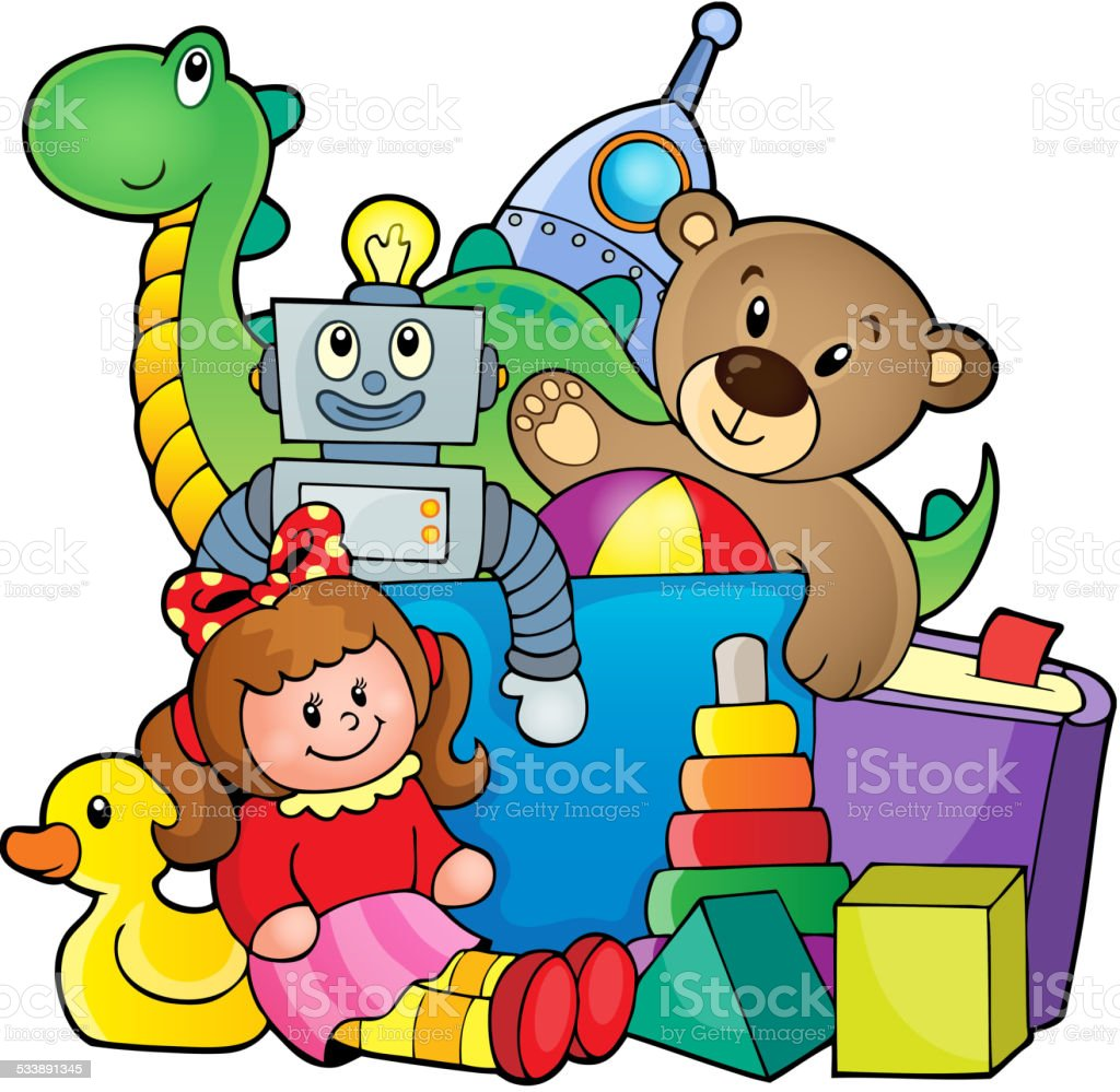royalty free pile of toys clip art vector images illustrations rh istockphoto com  empty toy box clipart