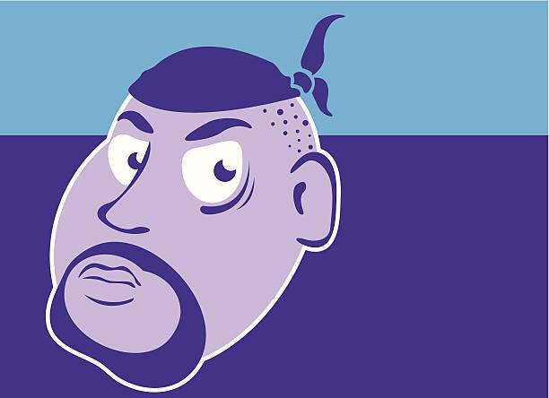 stockillustraties, clipart, cartoons en iconen met hear head - kaal geschoren hoofd