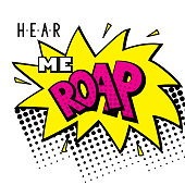 Hear me roar - hand-lettering illustration - stylish print for poster or t-shirt feminism quote and woman motivational slogan - Vector
