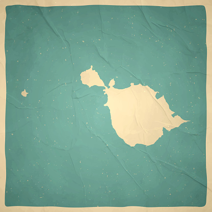 Heard Island and McDonald Islands map in retro vintage style - Old textured paper