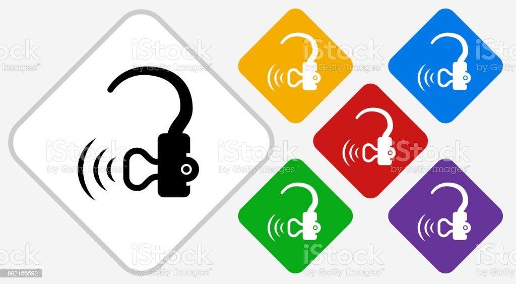 Hearing Aid Color Diamond Vector Icon Stock Vector Art More Images